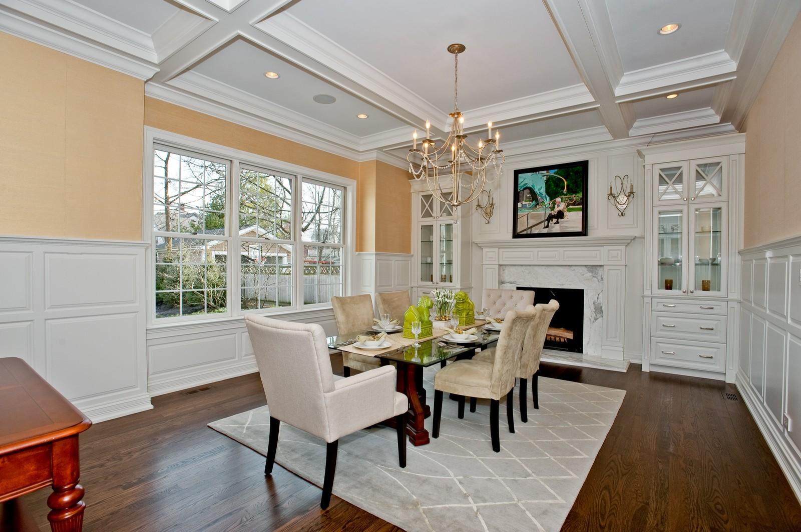 Real Estate Photography - 339 Linden, Winnetka, IL, 60093 - Dining Room