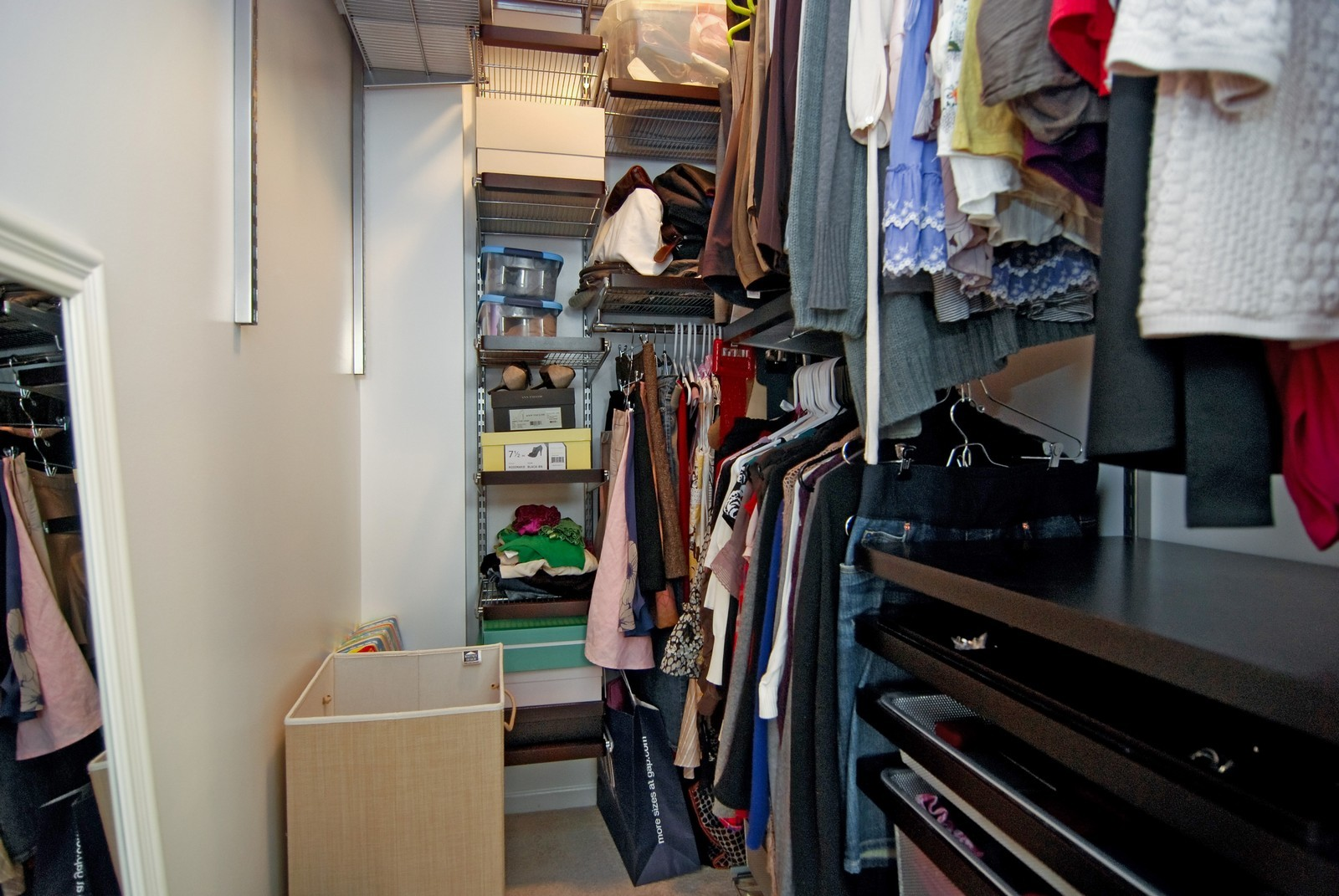 Real Estate Photography - 2869 W Palmer, Unit 3, Chicago, IL, 60647 - Master Bedroom Closet
