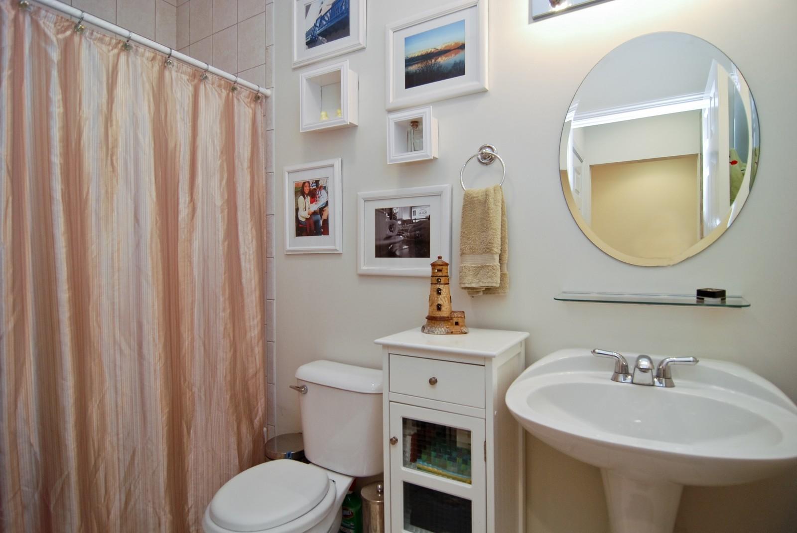 Real Estate Photography - 2869 W Palmer, Unit 3, Chicago, IL, 60647 - Bathroom