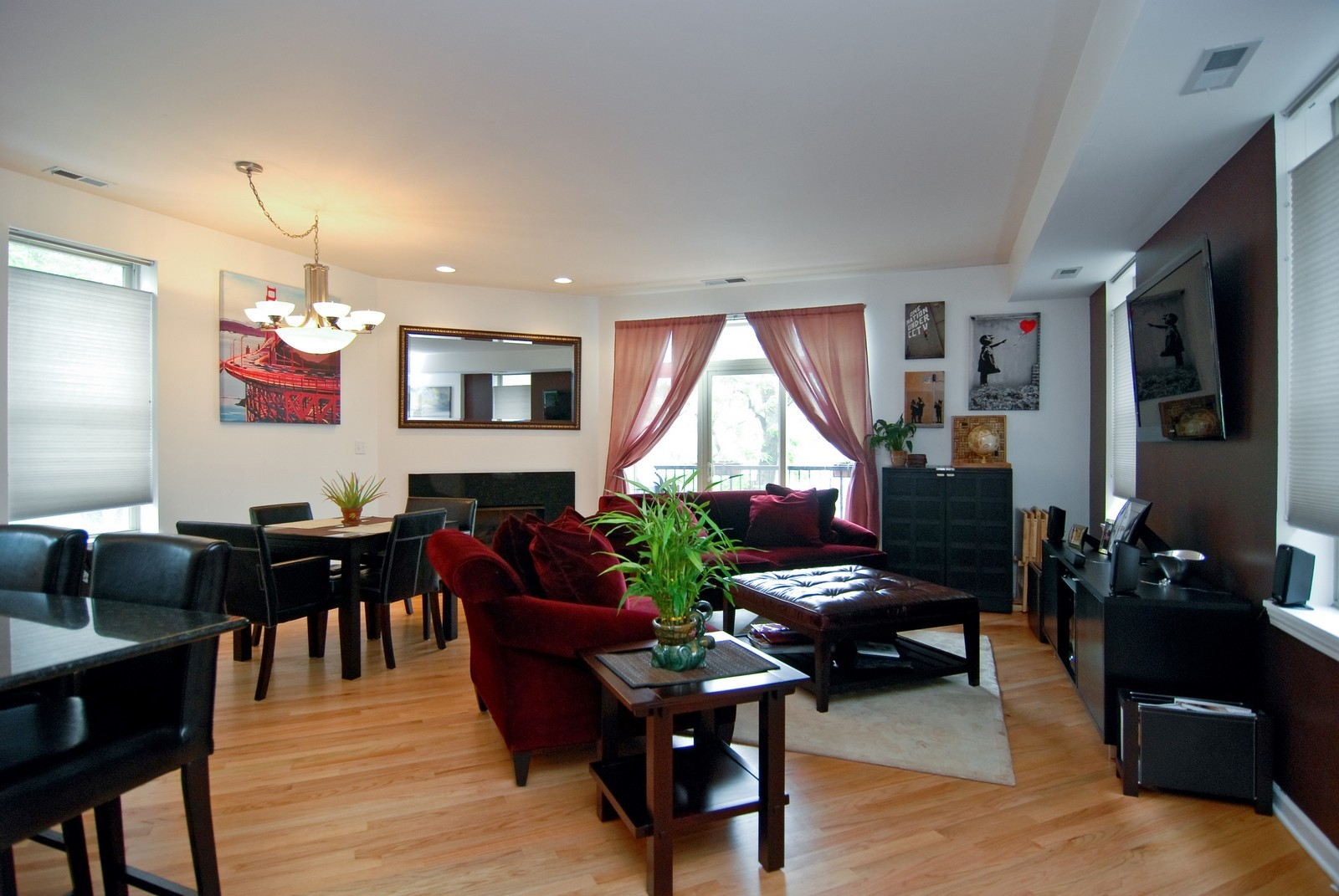 Real Estate Photography - 2869 W Palmer, Unit 3, Chicago, IL, 60647 - Living Room / Dining Room