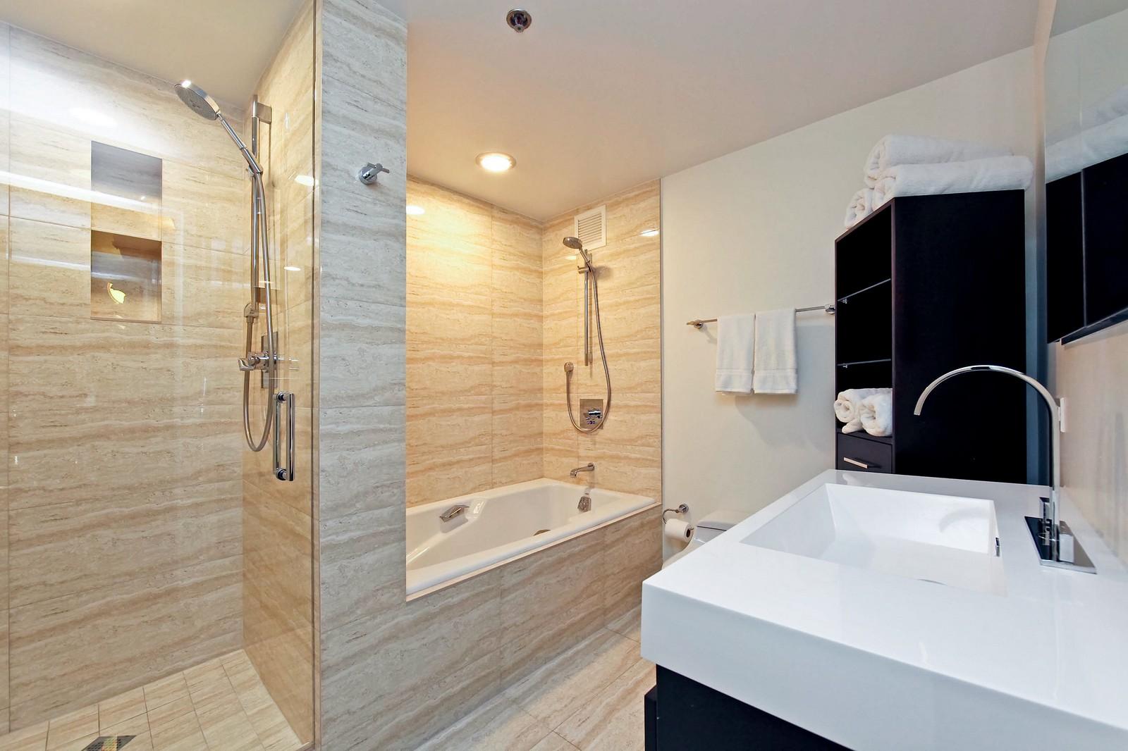 Real Estate Photography - 100 E Huron, Unit 4504, Chicago, IL, 60611 - Master Bathroom