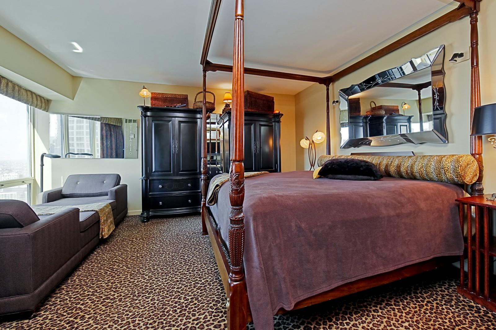 Real Estate Photography - 100 E Huron, Unit 4504, Chicago, IL, 60611 - Master Bedroom