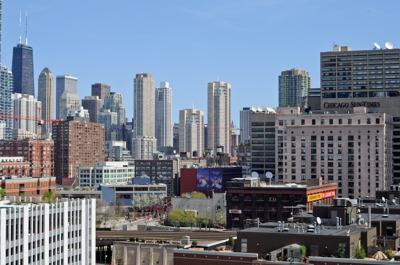 Real Estate Photography - 330 N Jefferson, #1104, Chicago, IL, 60661 - City View