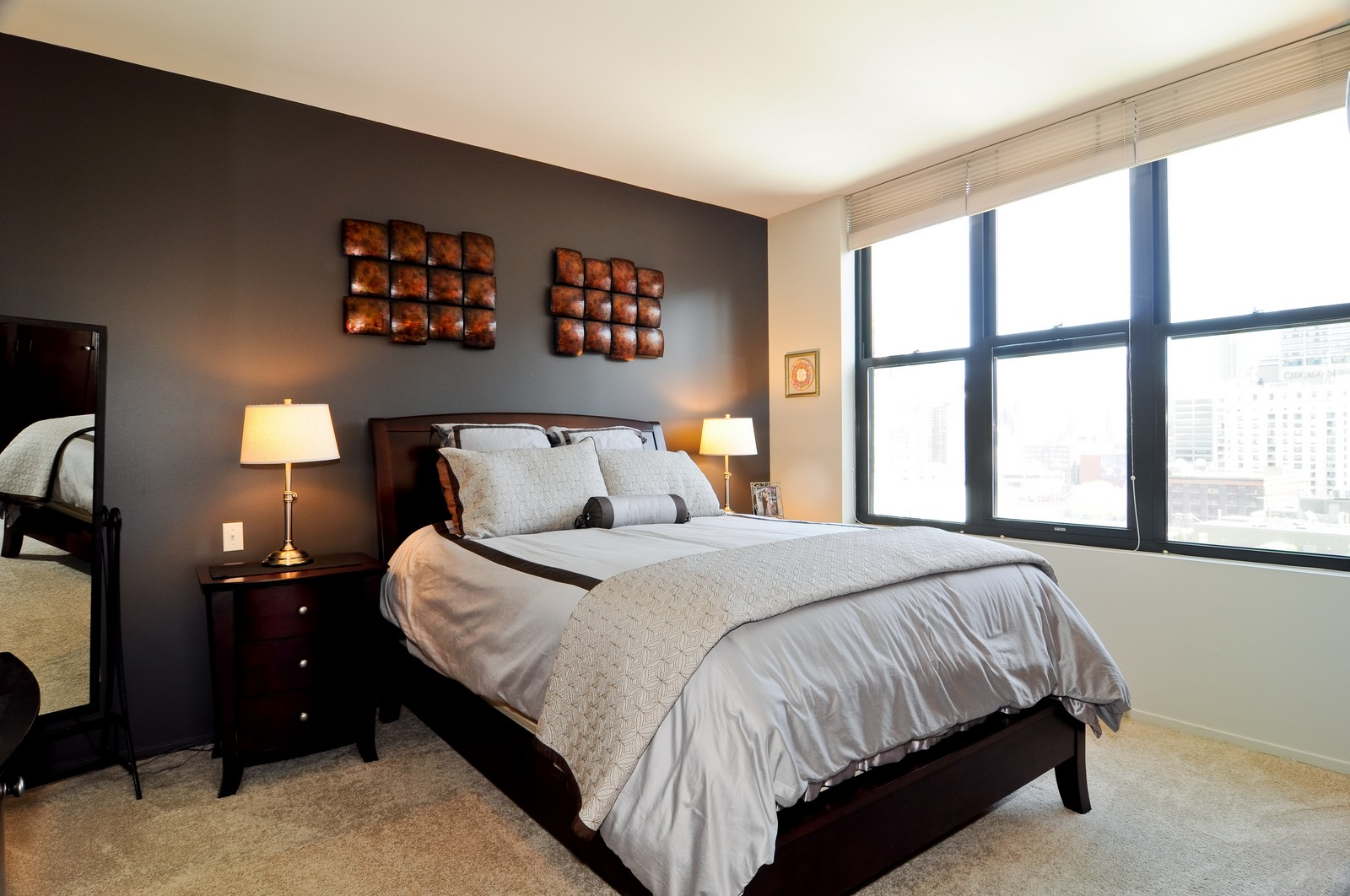 Real Estate Photography - 330 N Jefferson, #1104, Chicago, IL, 60661 - Master Bedroom