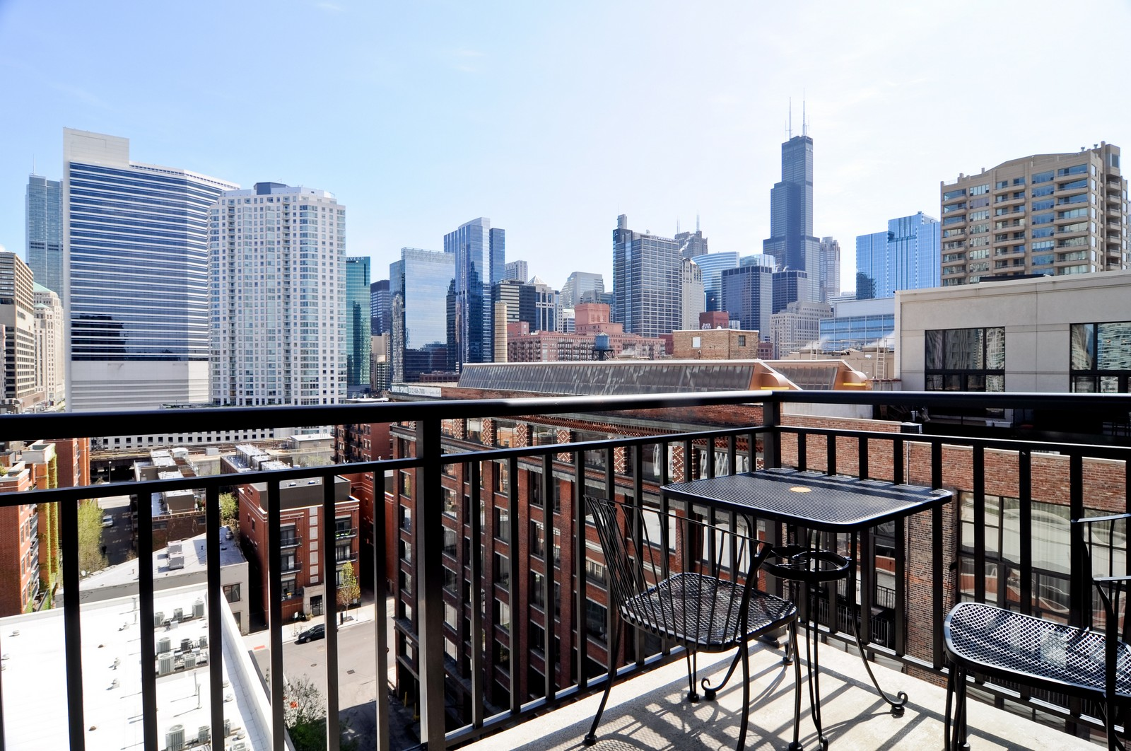 Real Estate Photography - 330 N Jefferson, #1104, Chicago, IL, 60661 - Balcony