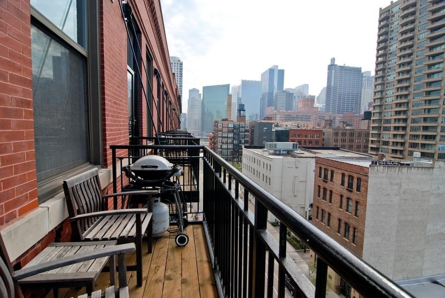 Real Estate Photography - 616 W Fulton, Unit 612, Chicago, IL, 60661 - Balcony