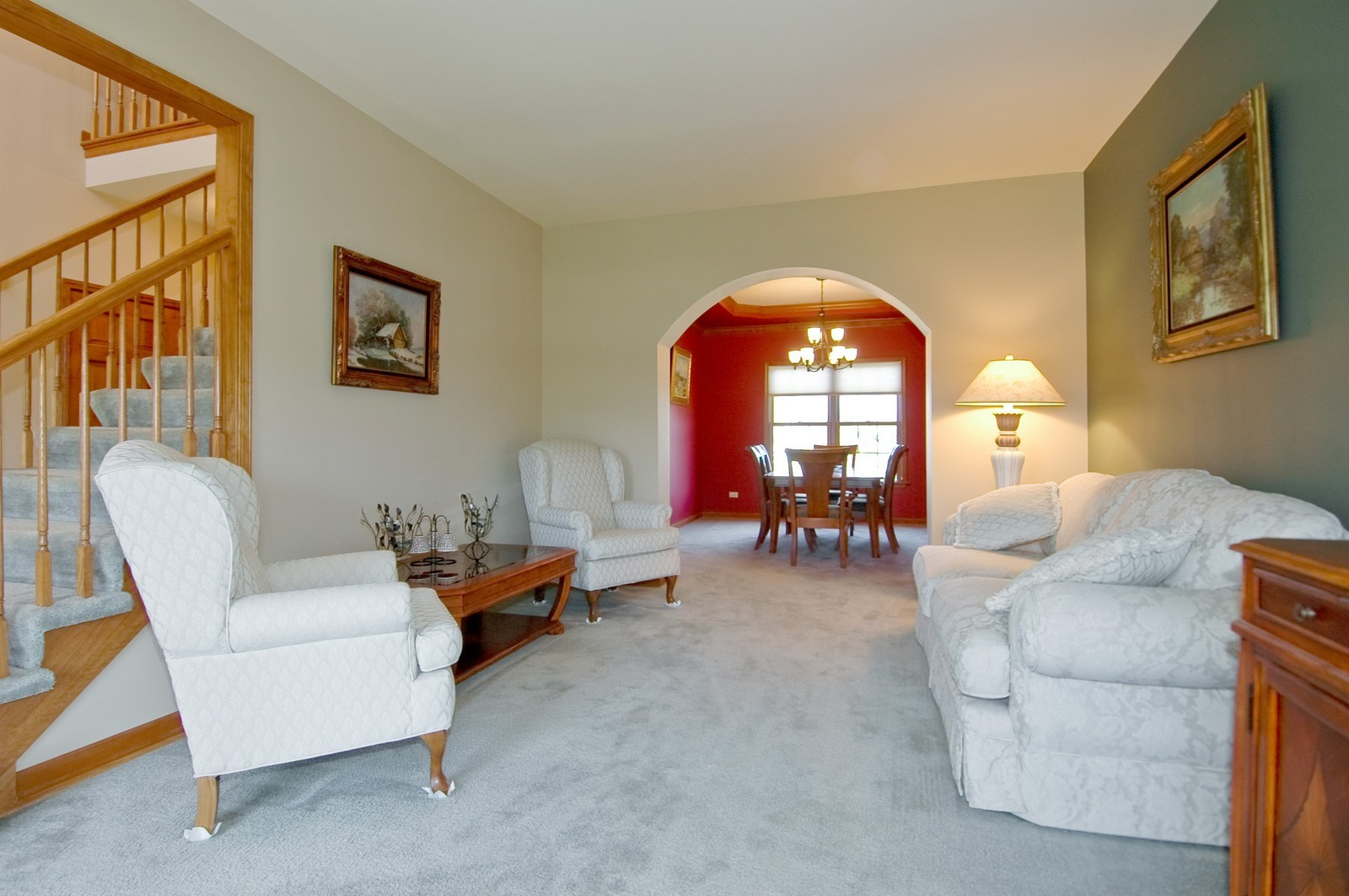Real Estate Photography - 491 Clover, Algonquin, IL, 60102 - Living Room / Dining Room