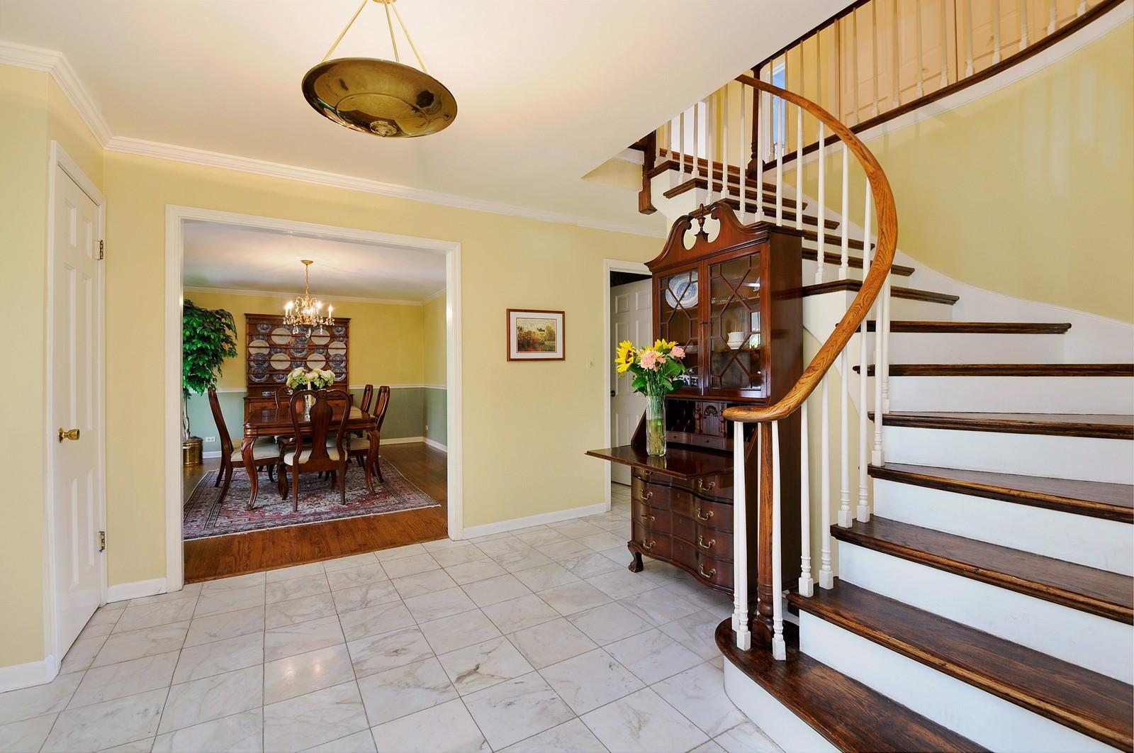 Real Estate Photography - 235 Sunset Drive, Northfield, IL, 60093 - Foyer