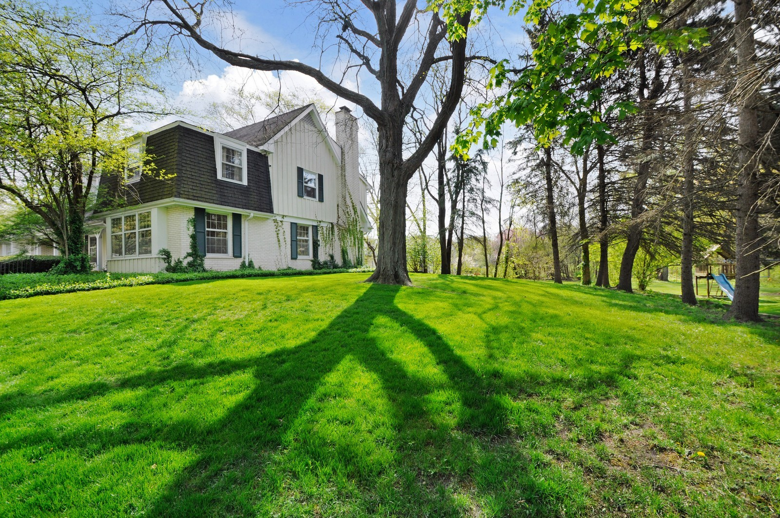 Real Estate Photography - 235 Sunset Drive, Northfield, IL, 60093 - Rear View