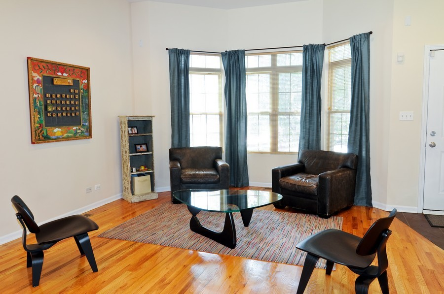 Real Estate Photography - 2628 W Cortland, Chicago, IL, 60647 - Living Room