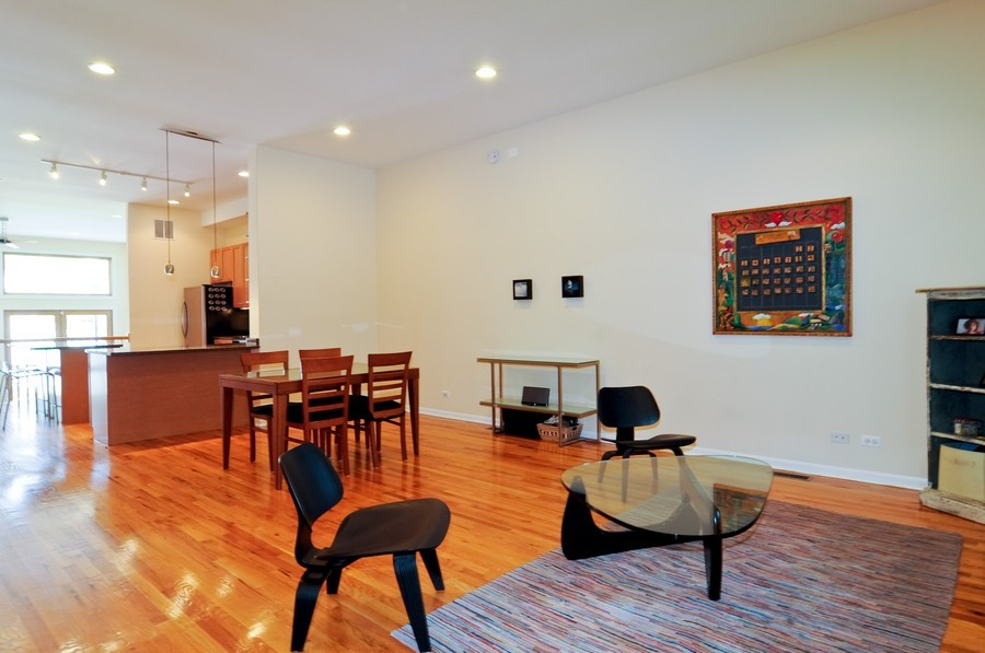 Real Estate Photography - 2628 W Cortland, Chicago, IL, 60647 - Living Room 2