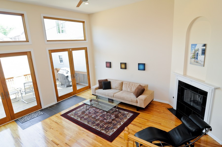 Real Estate Photography - 2628 W Cortland, Chicago, IL, 60647 - Family Room