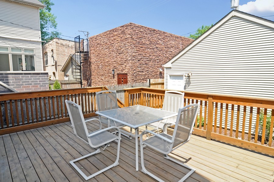 Real Estate Photography - 2628 W Cortland, Chicago, IL, 60647 - Deck