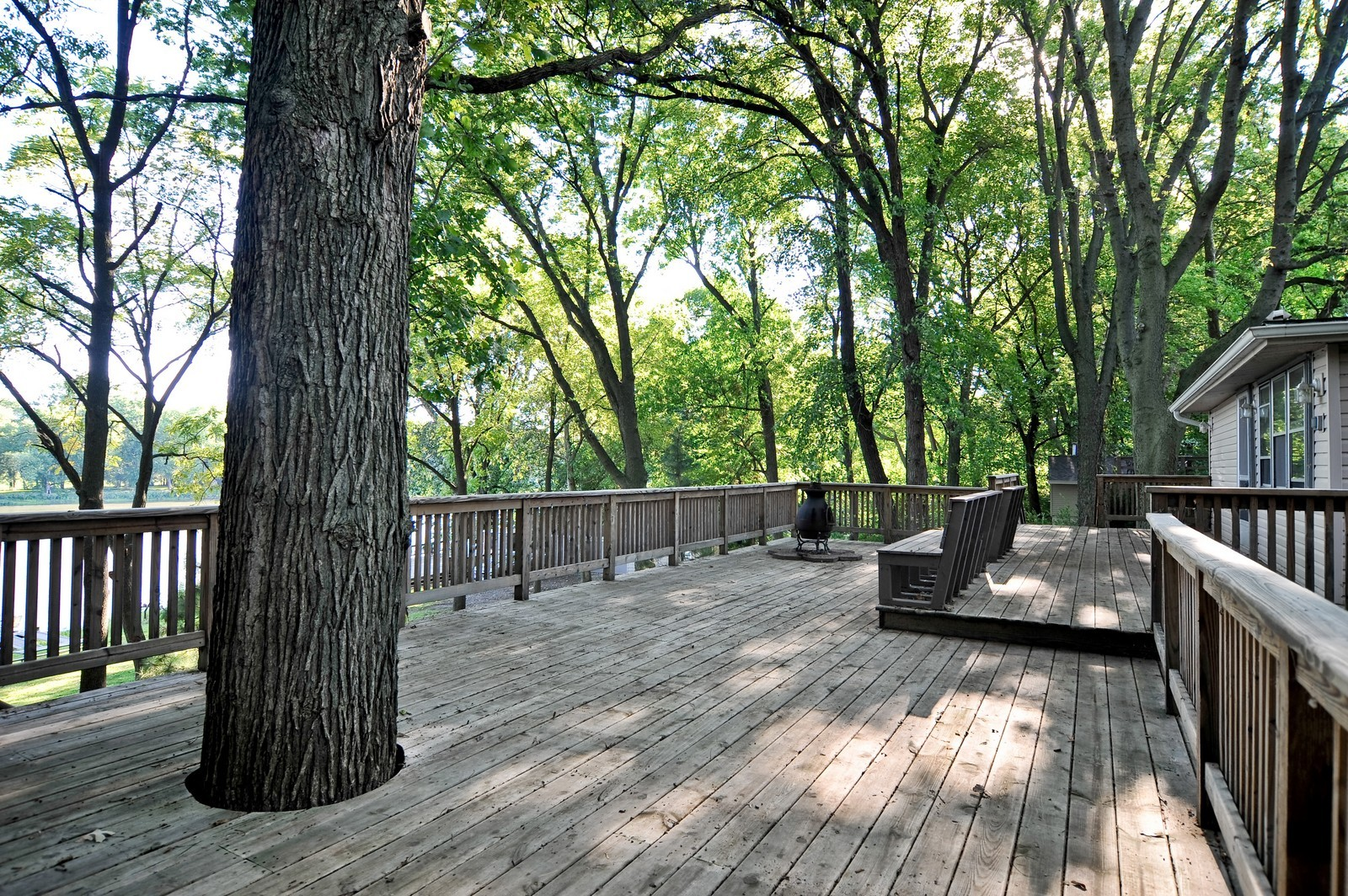 Real Estate Photography - 23250 Florian Dr, Wilmington, IL, 60481 - Deck overlooking the River (2nd residence)