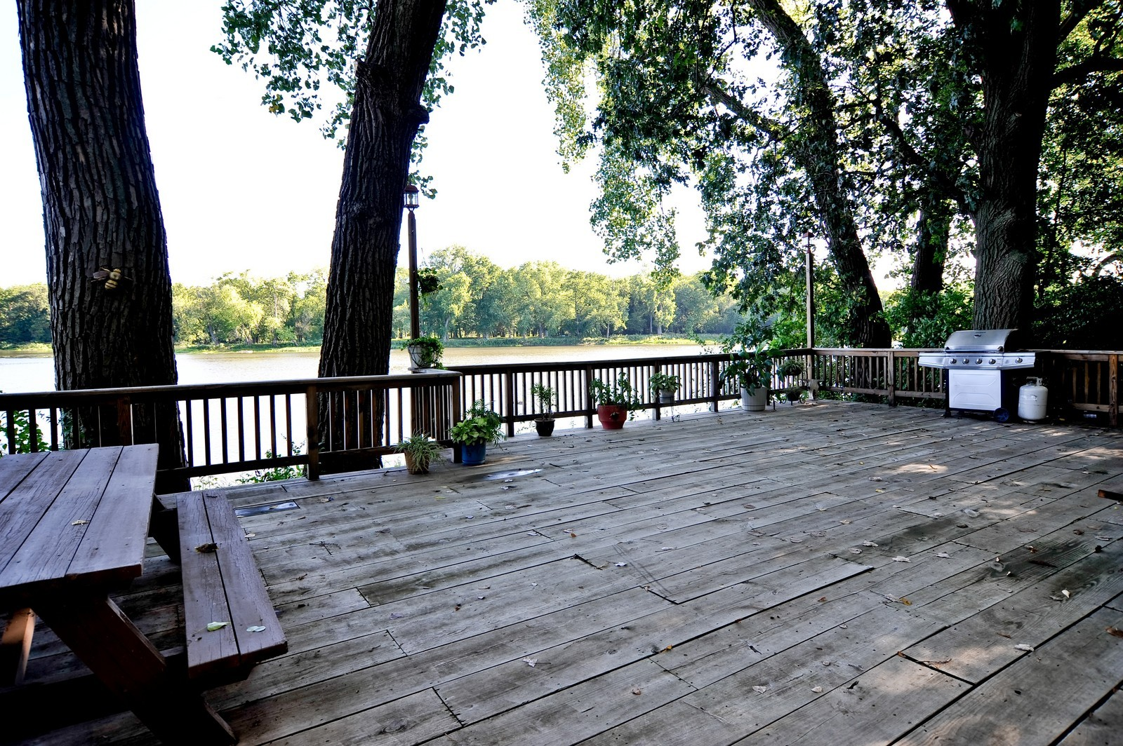 Real Estate Photography - 23250 Florian Dr, Wilmington, IL, 60481 - Huge Deck off the Kankakee River bank