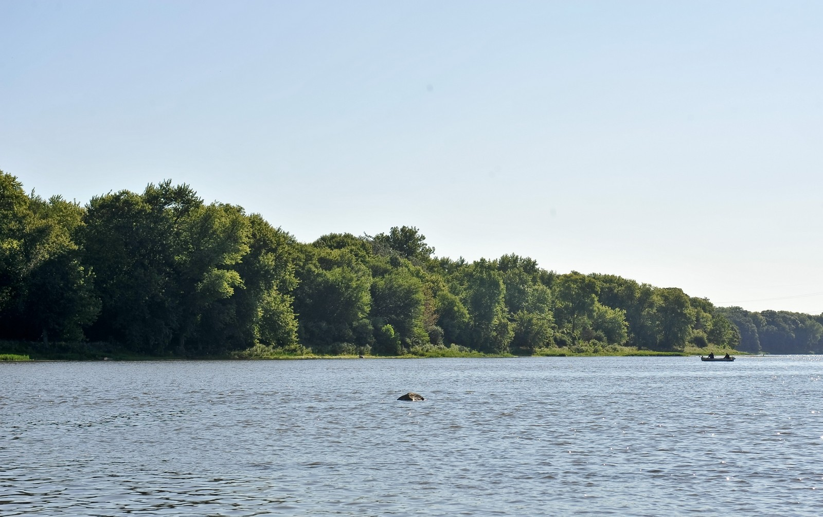 Real Estate Photography - 23250 Florian Dr, Wilmington, IL, 60481 - West View of Luther Island (approx 10+ acres)