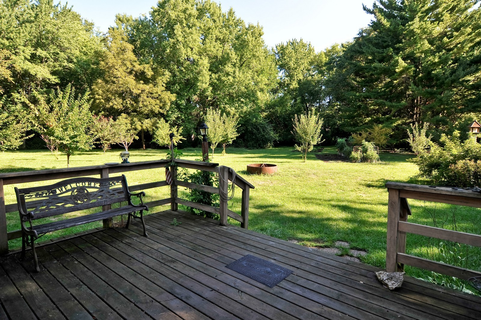 Real Estate Photography - 23250 Florian Dr, Wilmington, IL, 60481 - Front deck (Cottage on Luther Island)