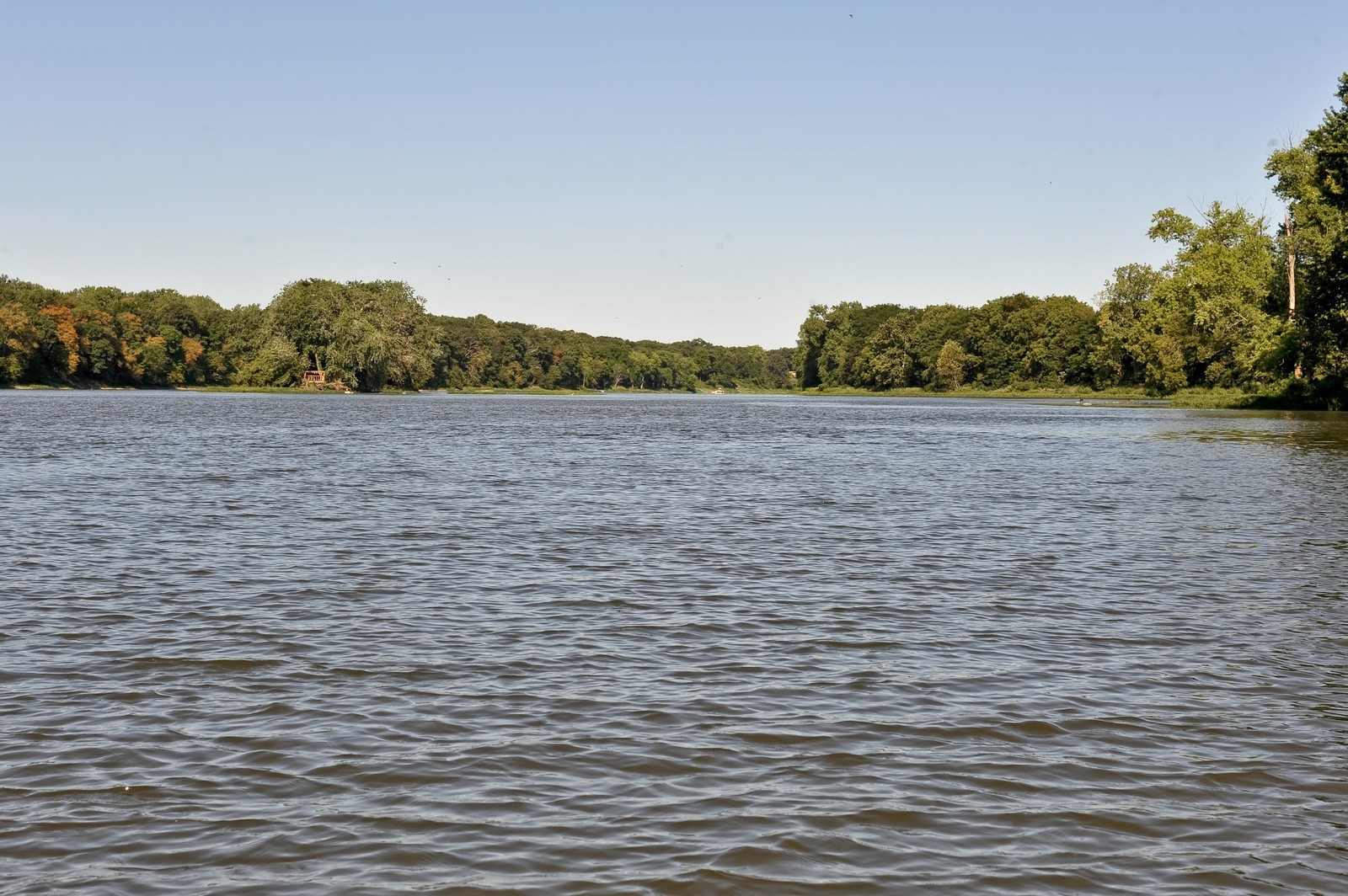 Real Estate Photography - 23250 Florian Dr, Wilmington, IL, 60481 - Down River of Luther Island (faces West)