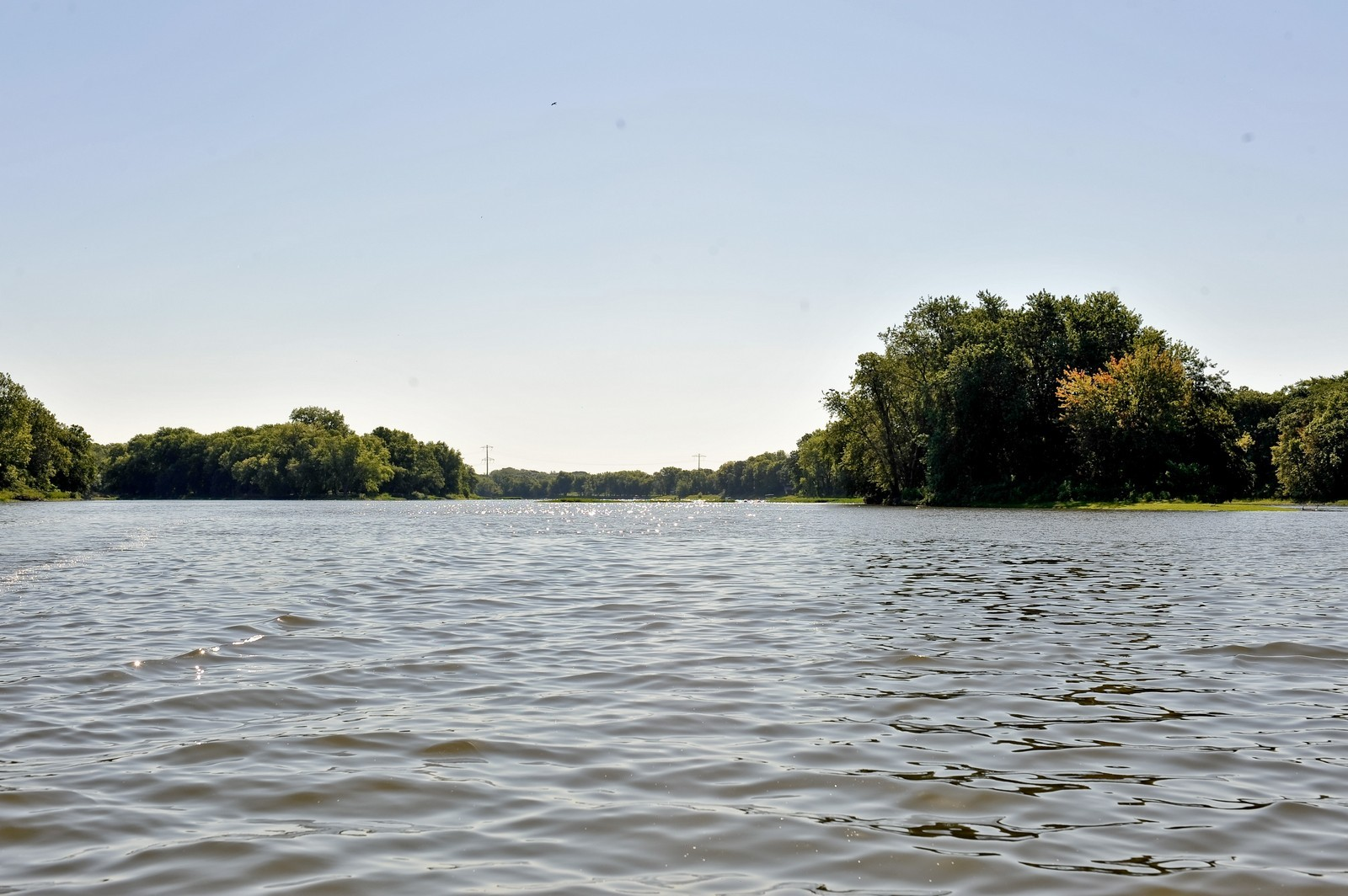 Real Estate Photography - 23250 Florian Dr, Wilmington, IL, 60481 - Up River looking at Luther Island (faces East)