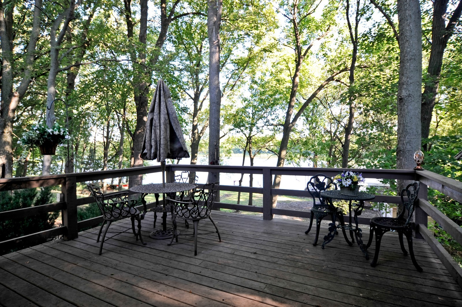 Real Estate Photography - 23250 Florian Dr, Wilmington, IL, 60481 - Deck looks over the River (main residence)