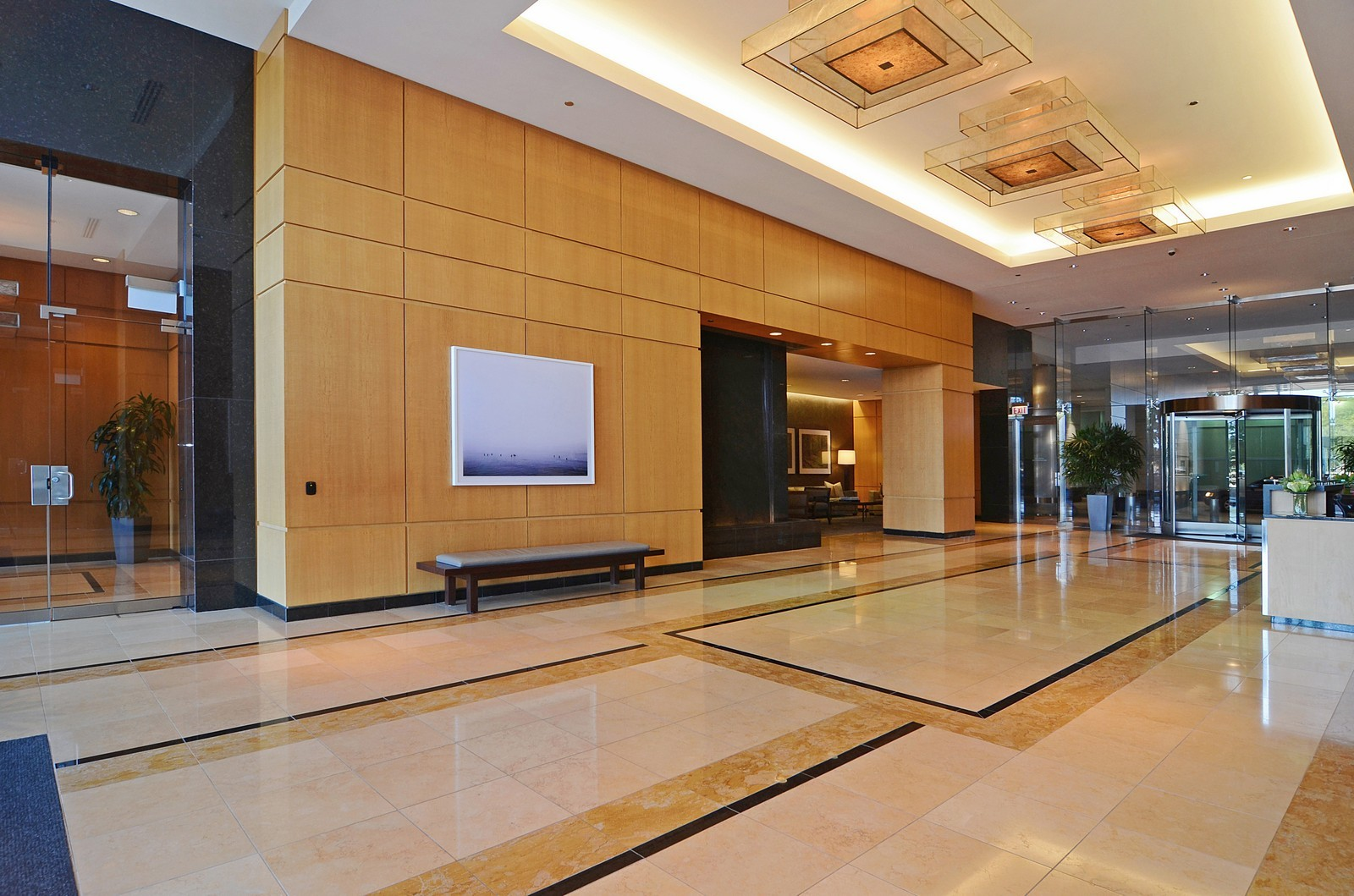 Real Estate Photography - 600 N Lake Shore Dr, Unit 2601, Chicago, IL, 60611 - Lobby