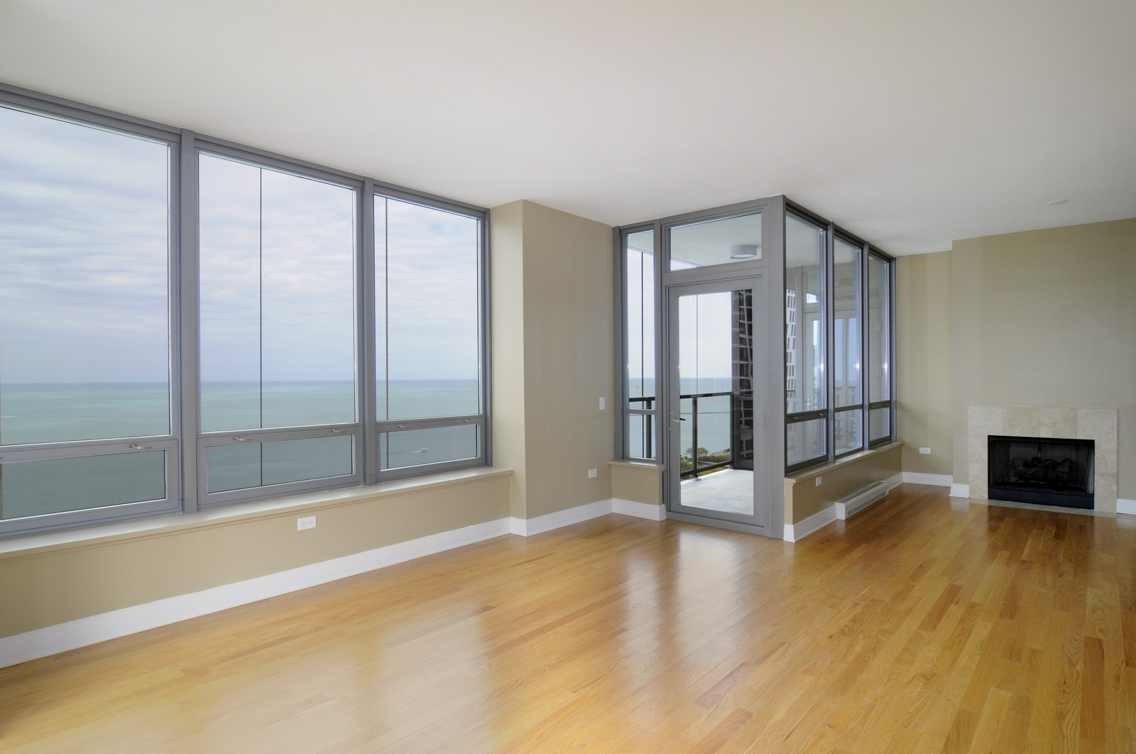 Real Estate Photography - 600 N Lake Shore Dr, Unit 2601, Chicago, IL, 60611 - Living Room