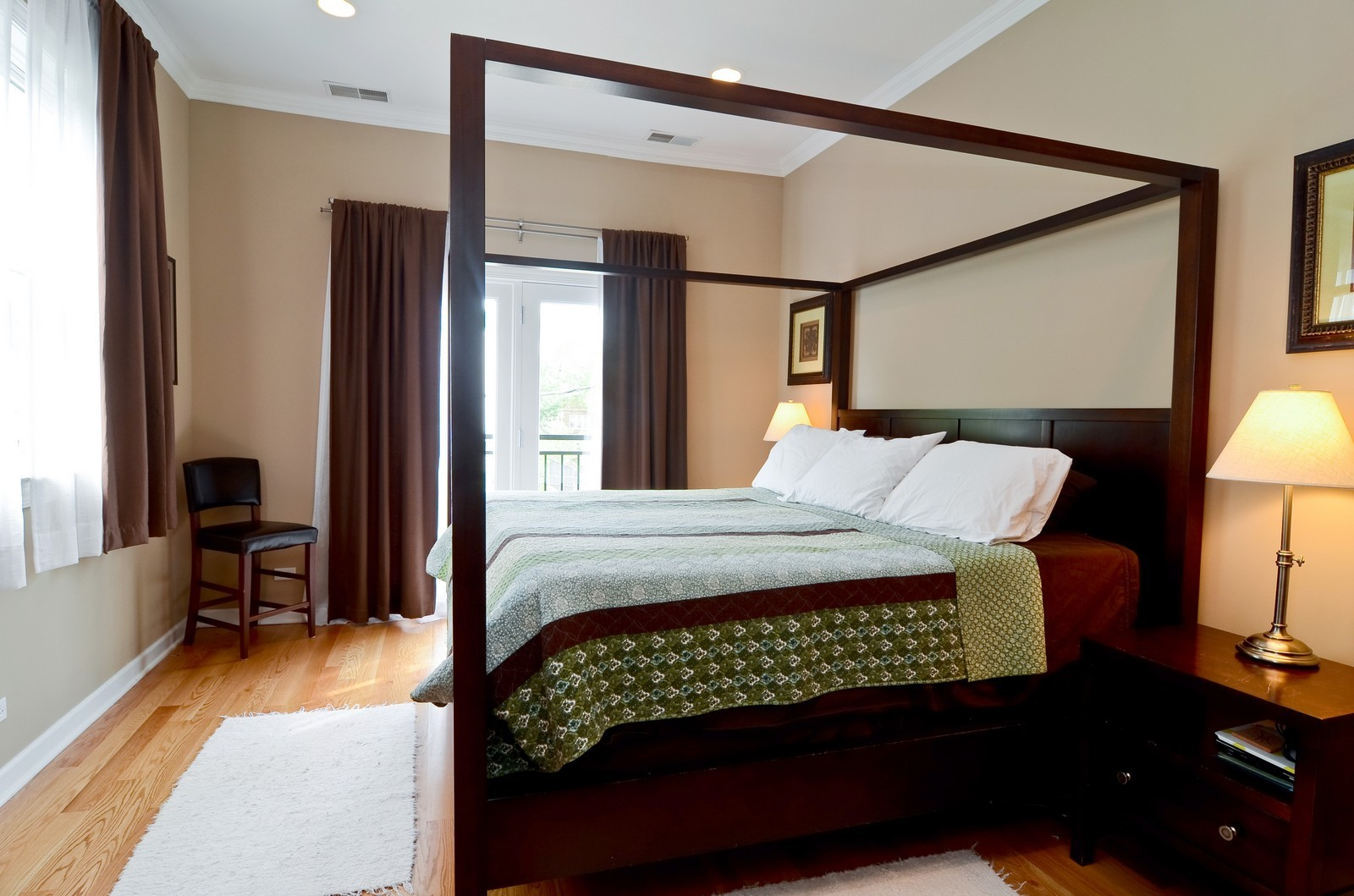 Real Estate Photography - 2068 N Humboldt Blvd, Unit 2, Chicago, IL, 60647 - Master Bedroom