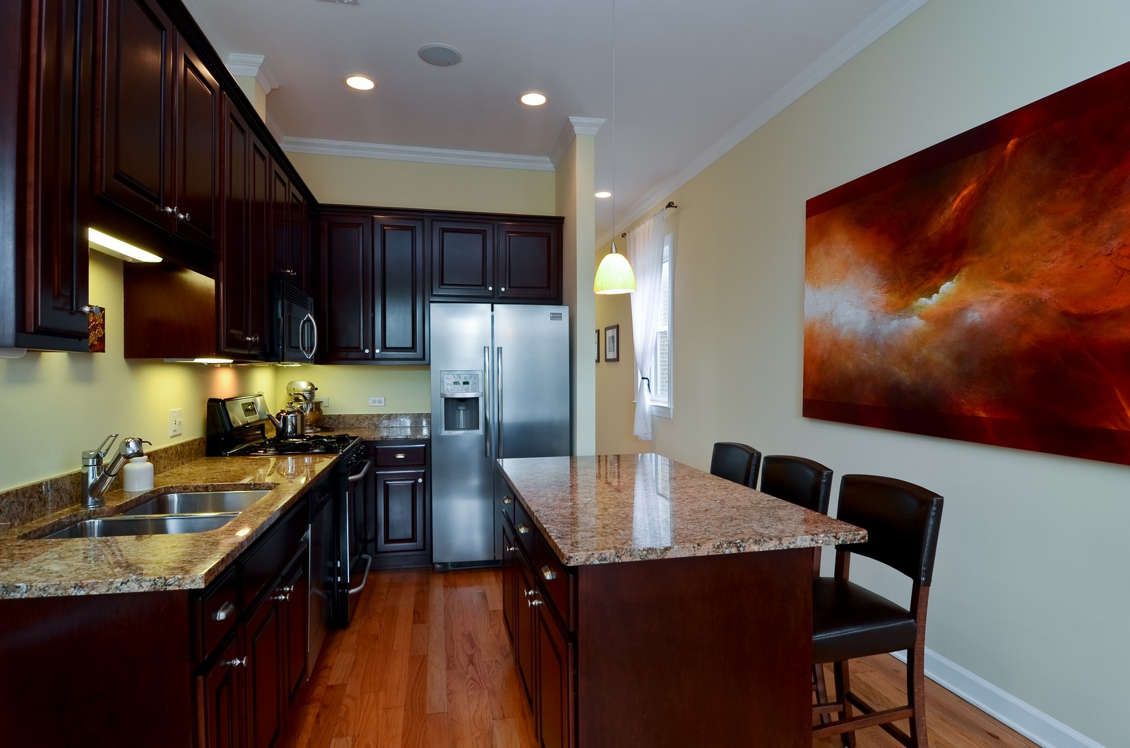 Real Estate Photography - 2068 N Humboldt Blvd, Unit 2, Chicago, IL, 60647 - Kitchen
