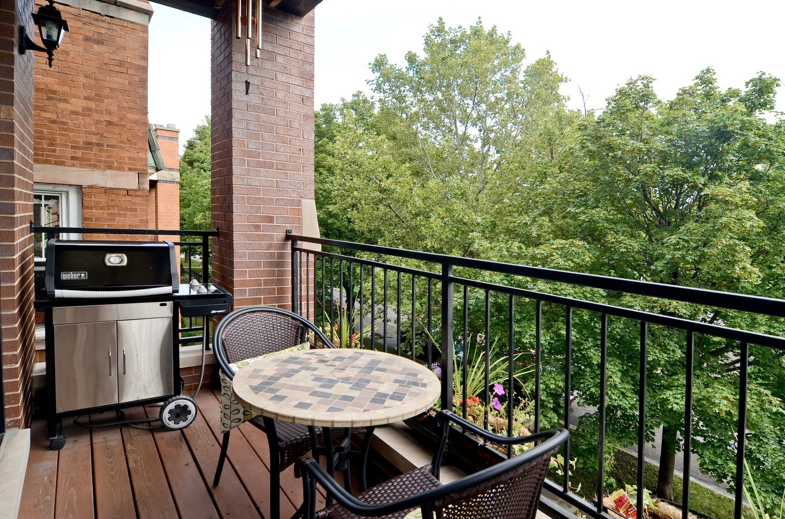 Real Estate Photography - 2068 N Humboldt Blvd, Unit 2, Chicago, IL, 60647 - Balcony