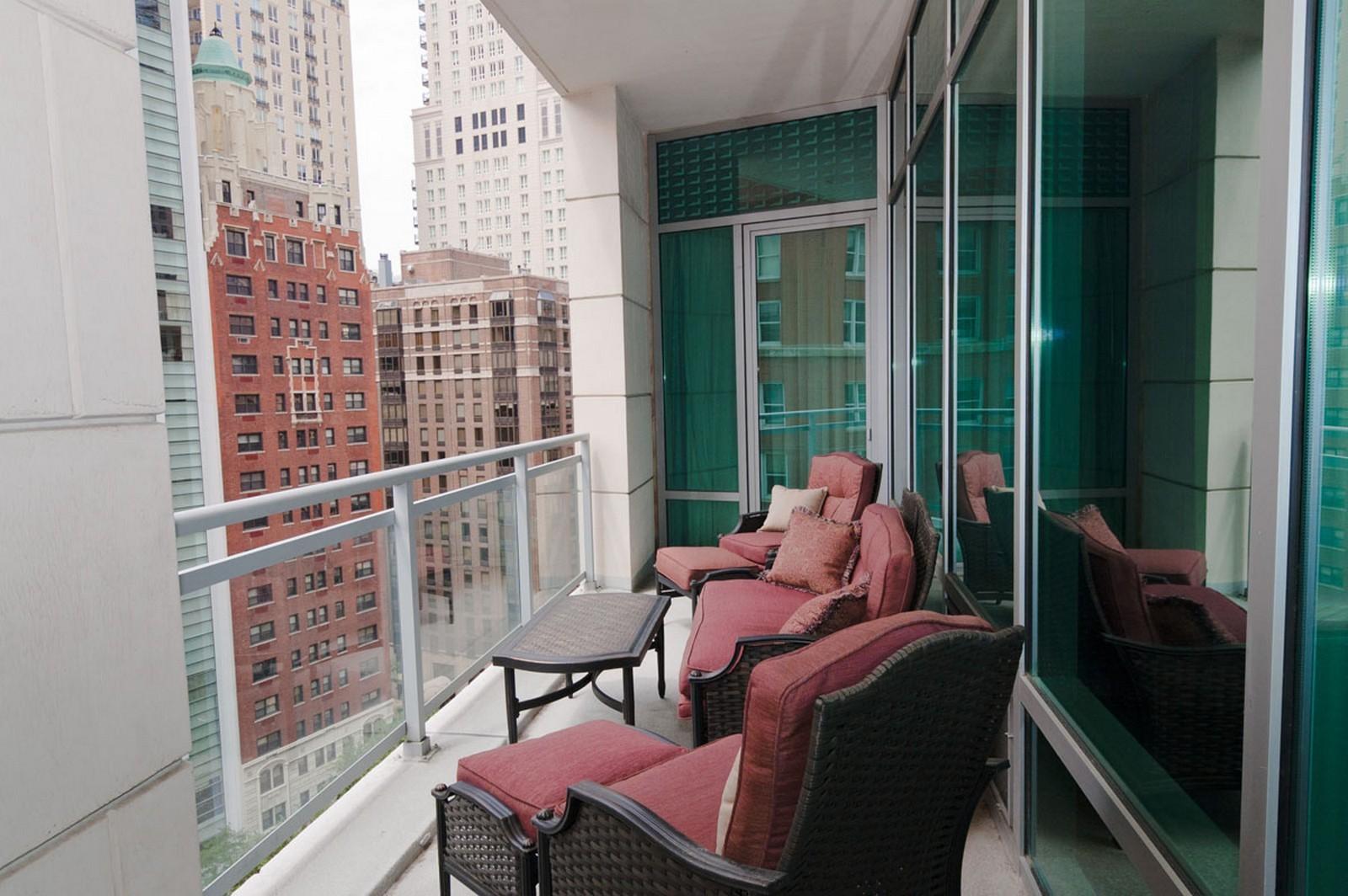Real Estate Photography - 50 E. Chestnut, Apt 1001, Chicago, IL, 60611 - Balcony
