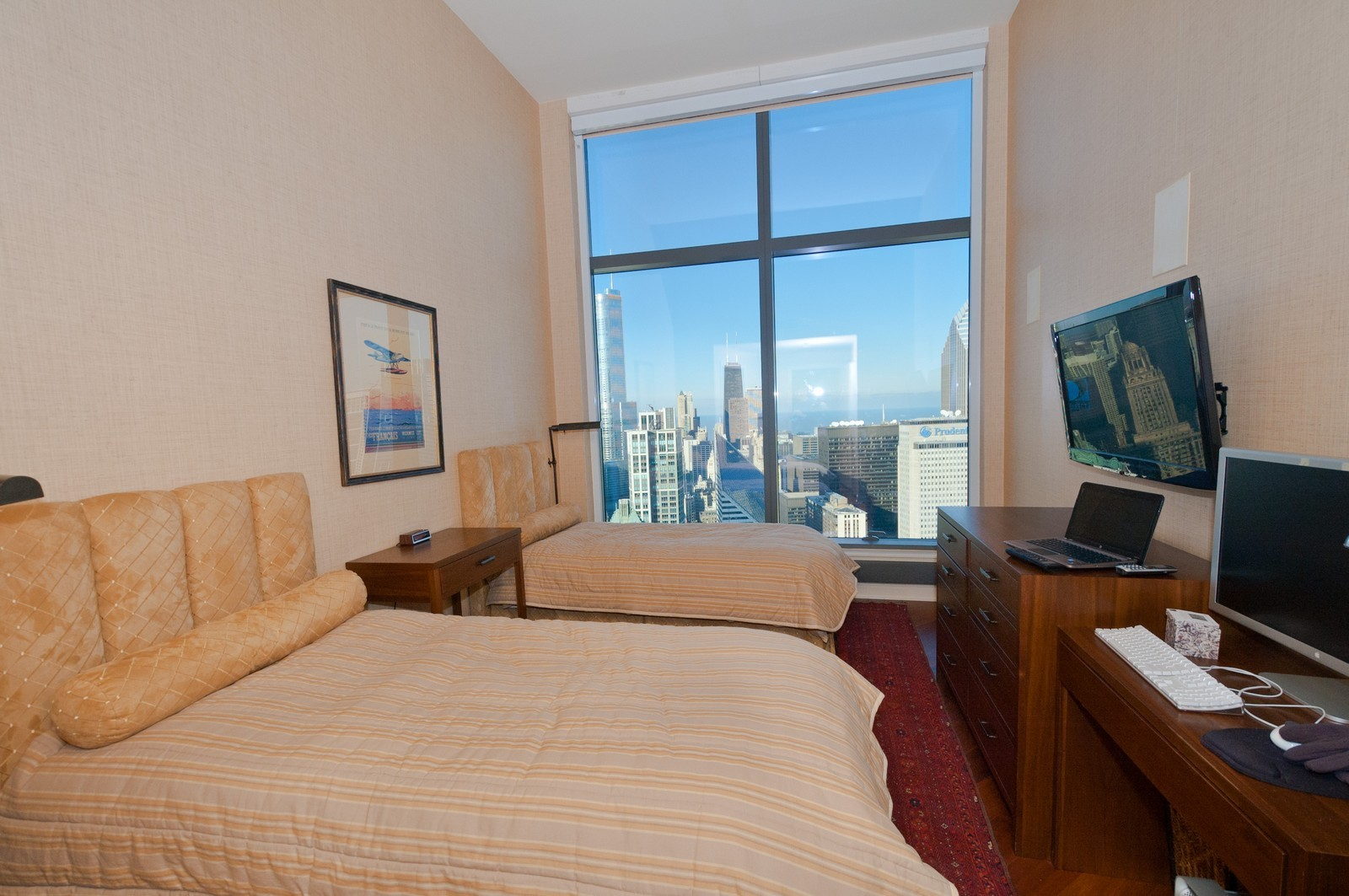 Real Estate Photography - 60 E. Monroe, 5901, Chicago, IL, 60603 - 3rd Bedroom