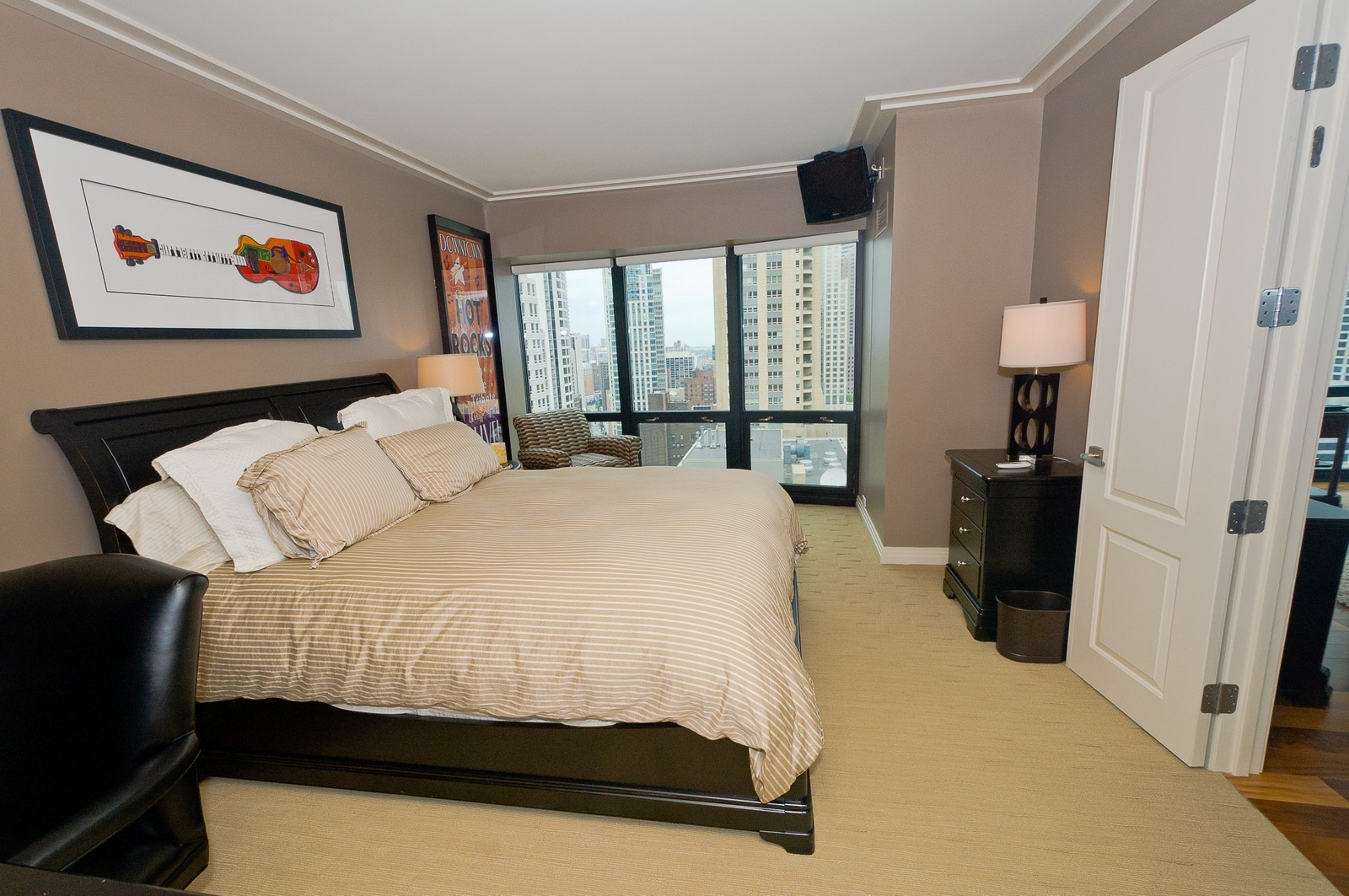 Real Estate Photography - 100 E Huron, 2103, Chicago, IL, 60611 - 2nd Bedroom