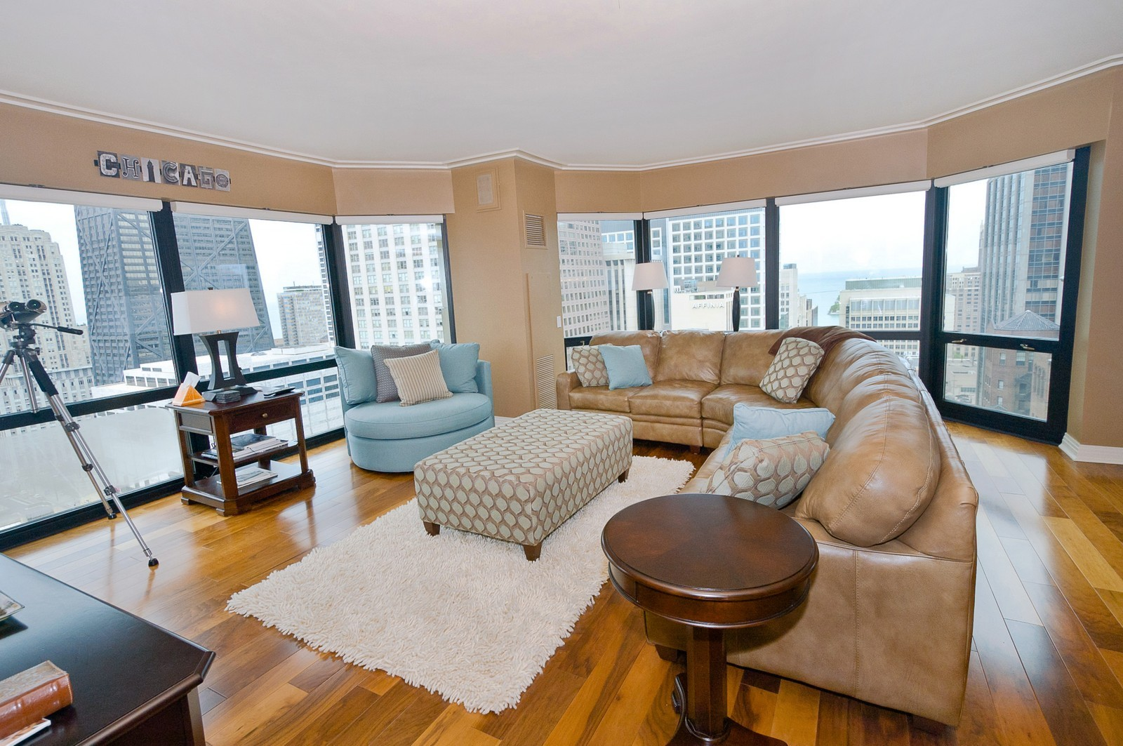 Real Estate Photography - 100 E Huron, 2103, Chicago, IL, 60611 - Living Room