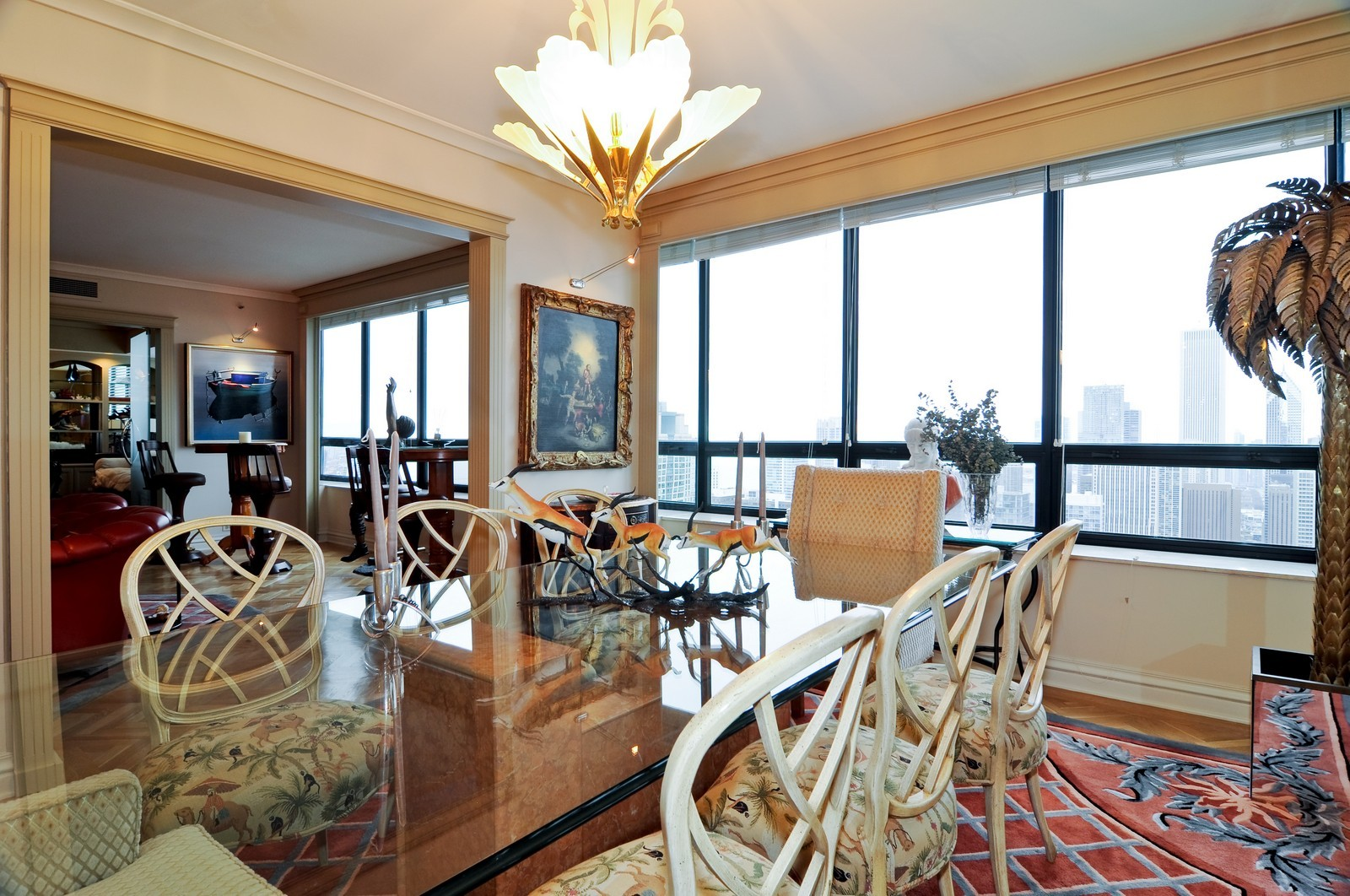 Real Estate Photography - 180 E Pearson St, 4806, Chicago, IL, 60611 - Dining Room