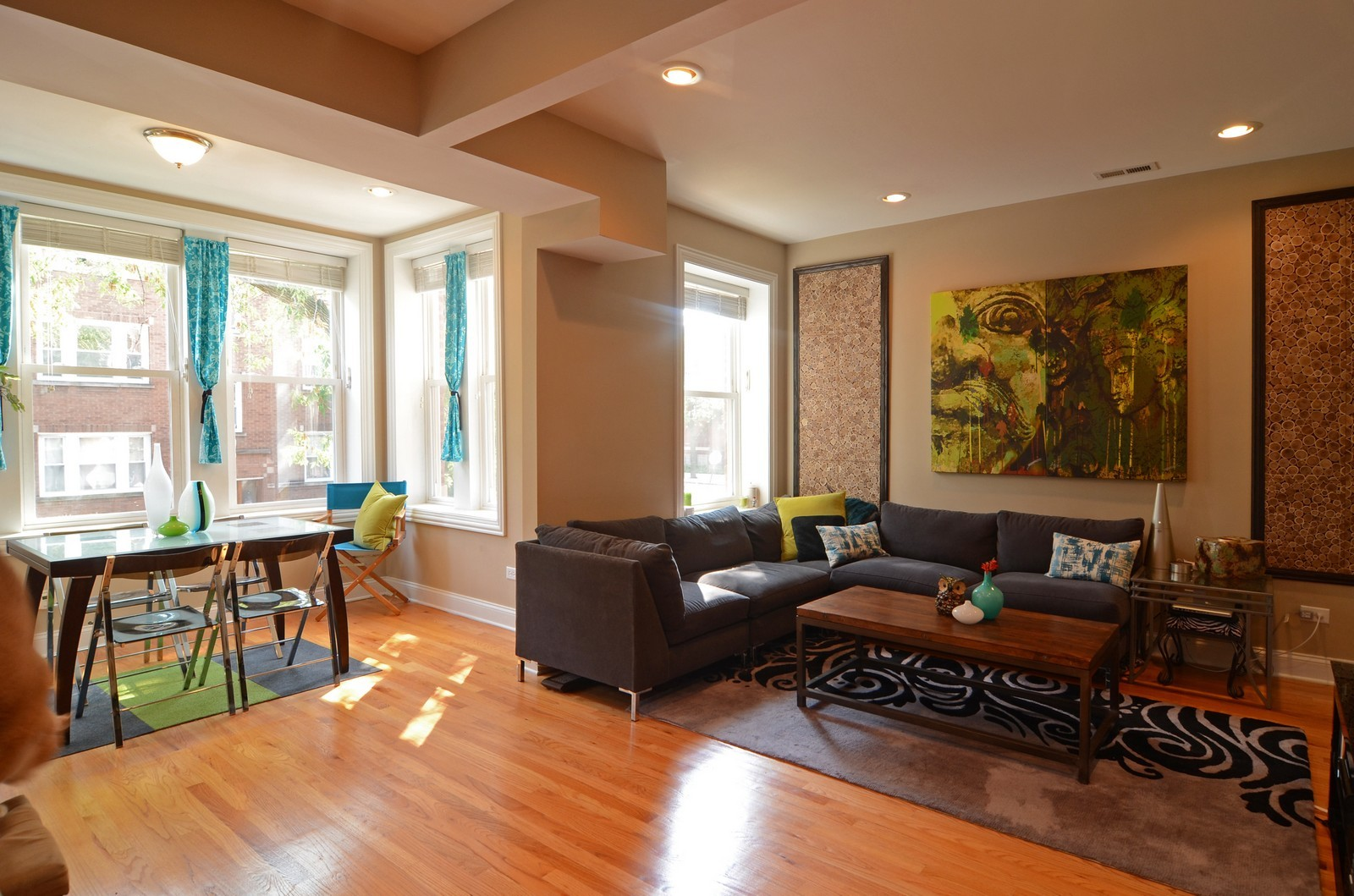 Real Estate Photography - 3516 W. Leland Ave, 1, Chicago, IL, 60625 - Living Room