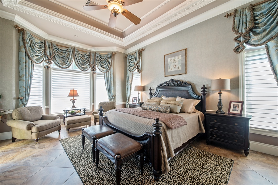 Real Estate Photography - 4800 Whispering Pine Way, Naples, FL, 34103 - Master Bedroom