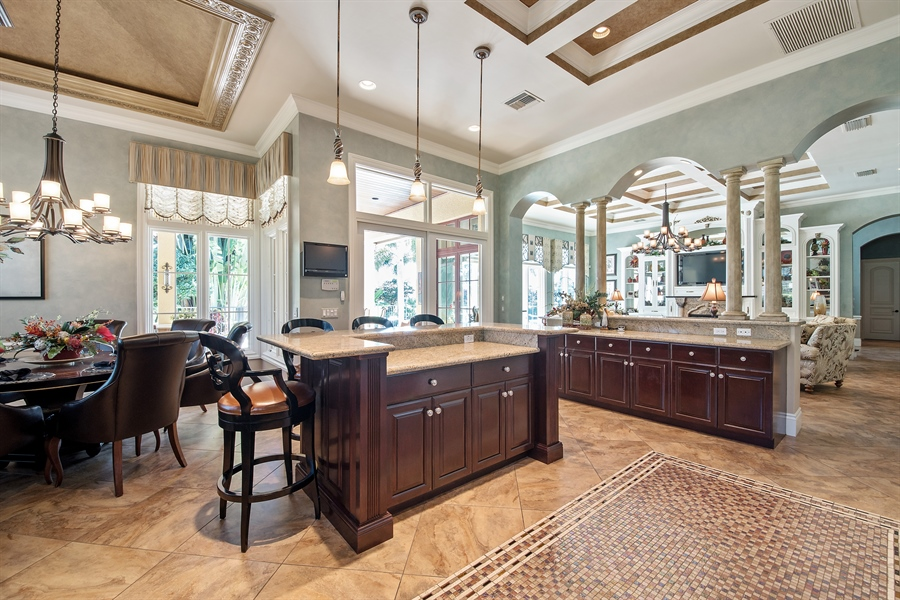 Real Estate Photography - 4800 Whispering Pine Way, Naples, FL, 34103 - Kitchen / Breakfast Room