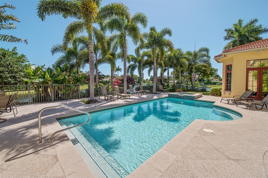 Real Estate Photography - 4800 Whispering Pine Way, Naples, FL, 34103 - Pool