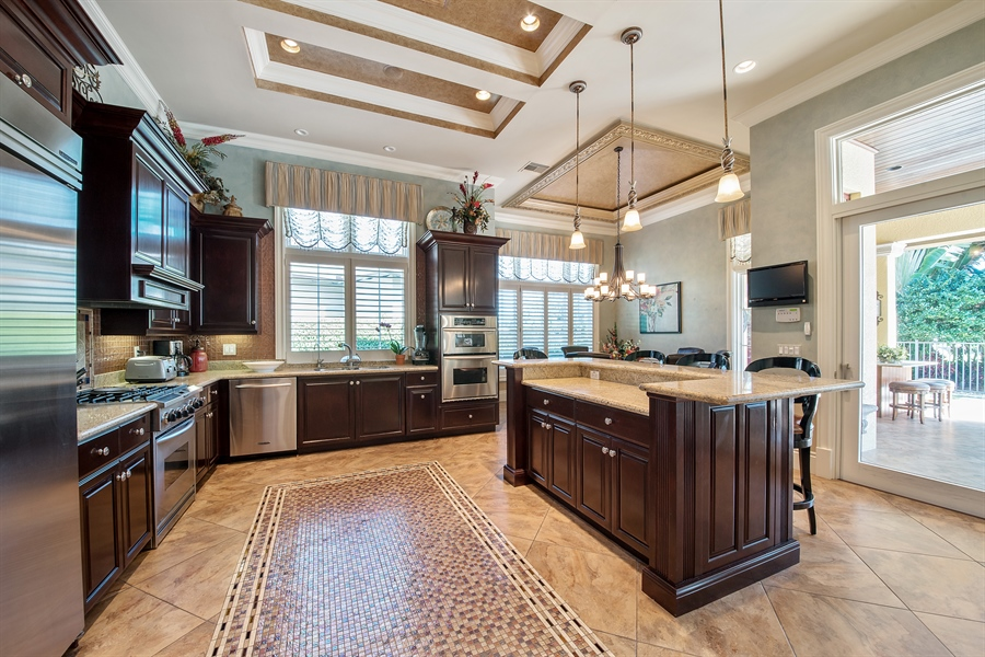 Real Estate Photography - 4800 Whispering Pine Way, Naples, FL, 34103 - Kitchen