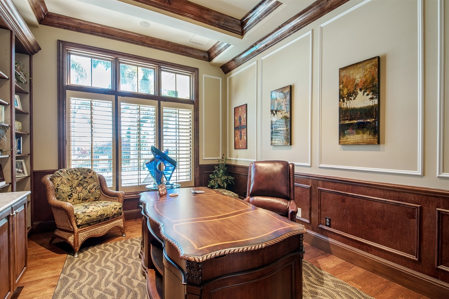 Real Estate Photography - 4800 Whispering Pine Way, Naples, FL, 34103 - Office