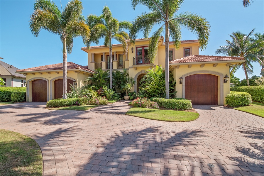 Real Estate Photography - 4800 Whispering Pine Way, Naples, FL, 34103 - Front View