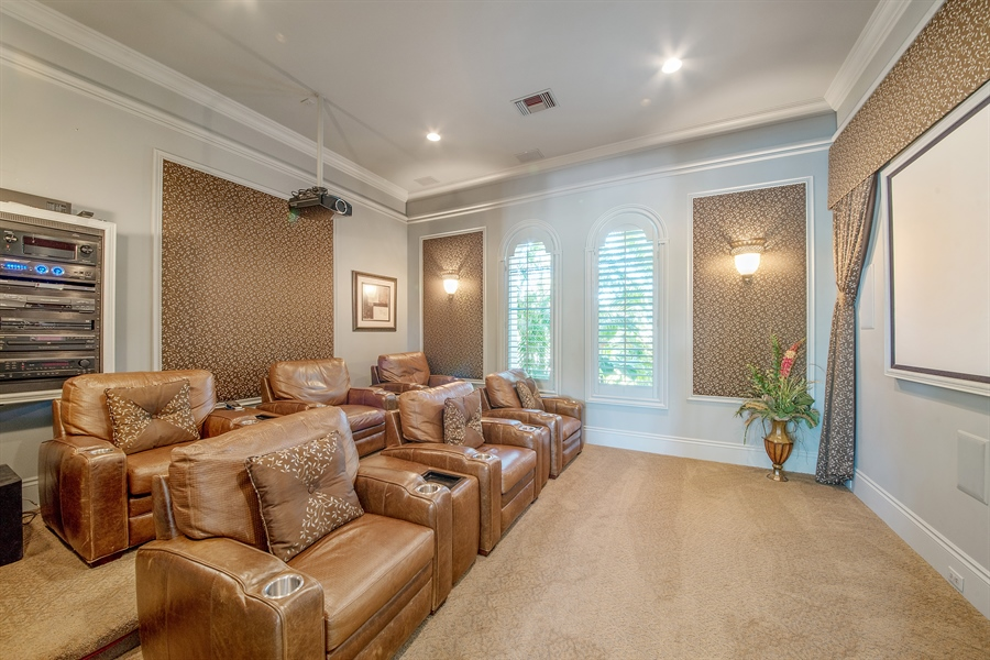 Real Estate Photography - 4800 Whispering Pine Way, Naples, FL, 34103 - Theater