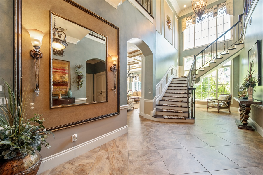 Real Estate Photography - 4800 Whispering Pine Way, Naples, FL, 34103 - Staircase