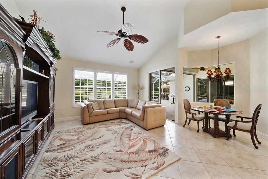 Real Estate Photography - 811 Ashburton Dr, Naples, FL, 34110 - Family Room