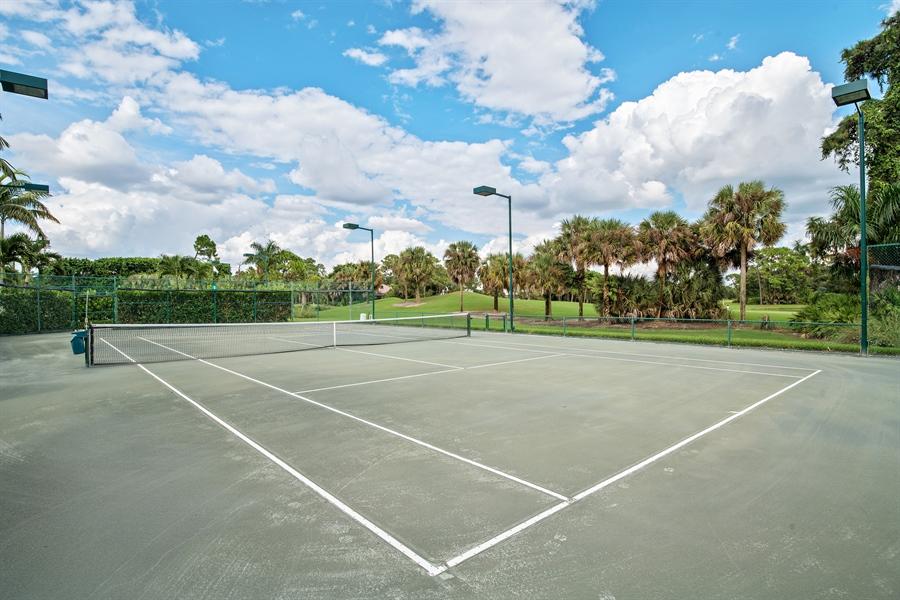 Real Estate Photography - 811 Ashburton Dr, Naples, FL, 34110 - Tennis Court