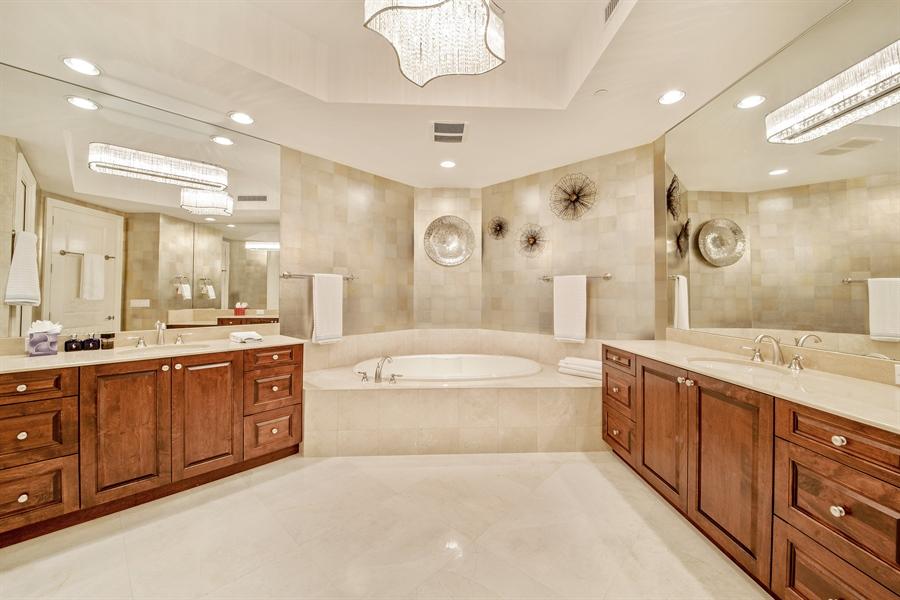 Real Estate Photography - 4851 Bonita Bay Blvd, Unit 702, Bonita Springs, FL, 34134 - Master Bathroom