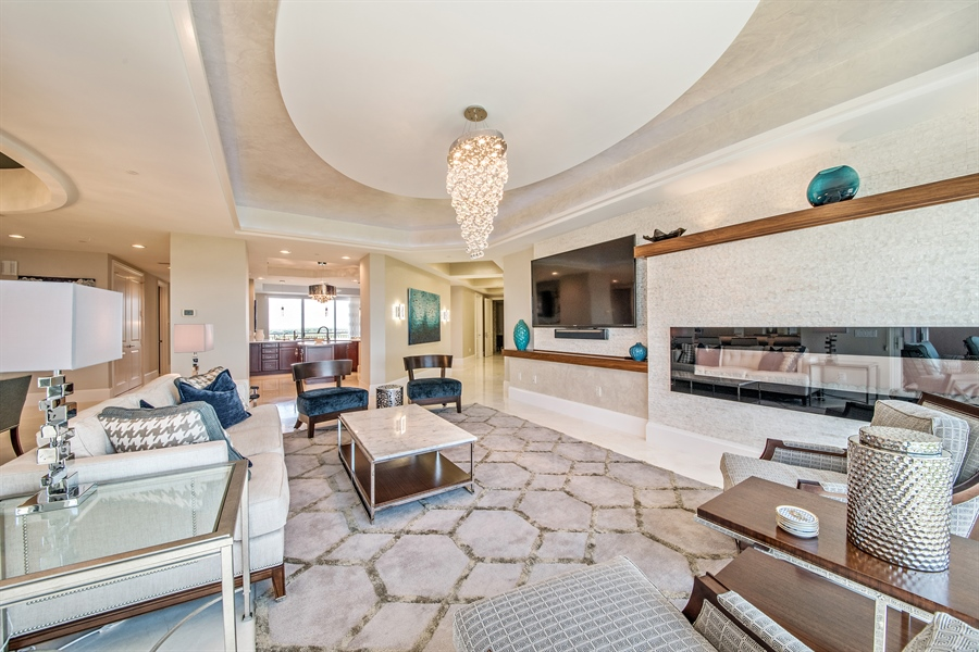 Real Estate Photography - 4851 Bonita Bay Blvd, Unit 702, Bonita Springs, FL, 34134 - Living Room