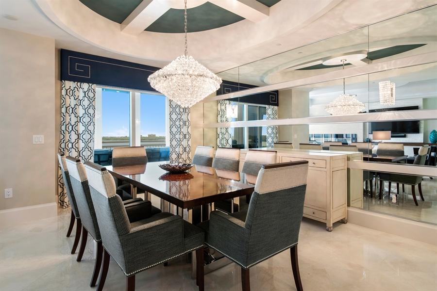Real Estate Photography - 4851 Bonita Bay Blvd, Unit 702, Bonita Springs, FL, 34134 - Dining Room