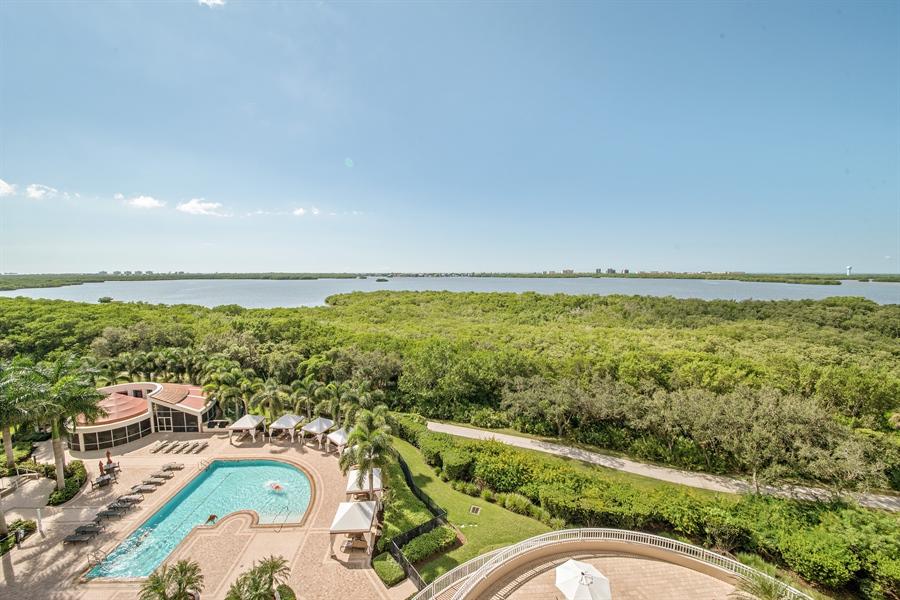 Real Estate Photography - 4851 Bonita Bay Blvd, Unit 702, Bonita Springs, FL, 34134 - Pool