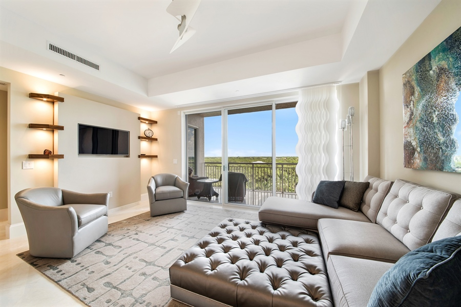 Real Estate Photography - 4851 Bonita Bay Blvd, Unit 702, Bonita Springs, FL, 34134 - Family Room